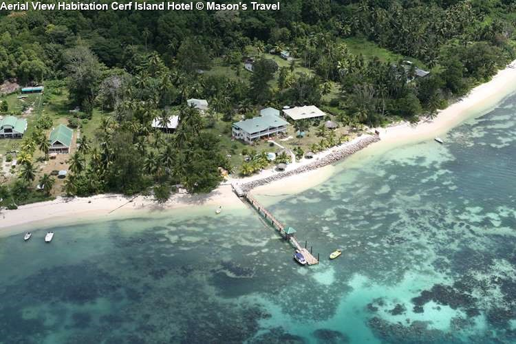 Aerial View Habitation Cerf Island Hotel © Mason's Travel