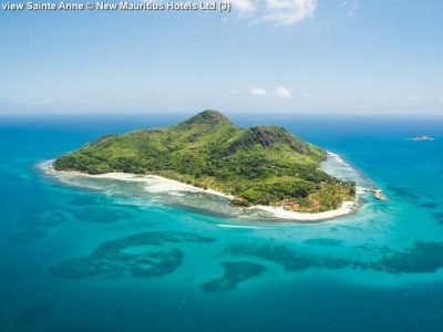 Aerial view Sainte Anne New Mauritius Hotels Ltd