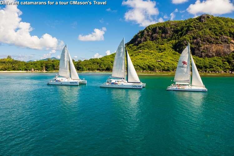 Different Catamarans For A Tour ©Masons Travel