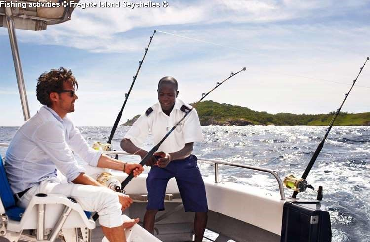 Fishing activities Fregate Island Seychelles