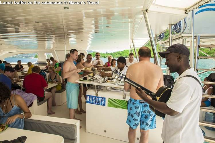 Lunch Buffet On The Catamaran © Masons Travel