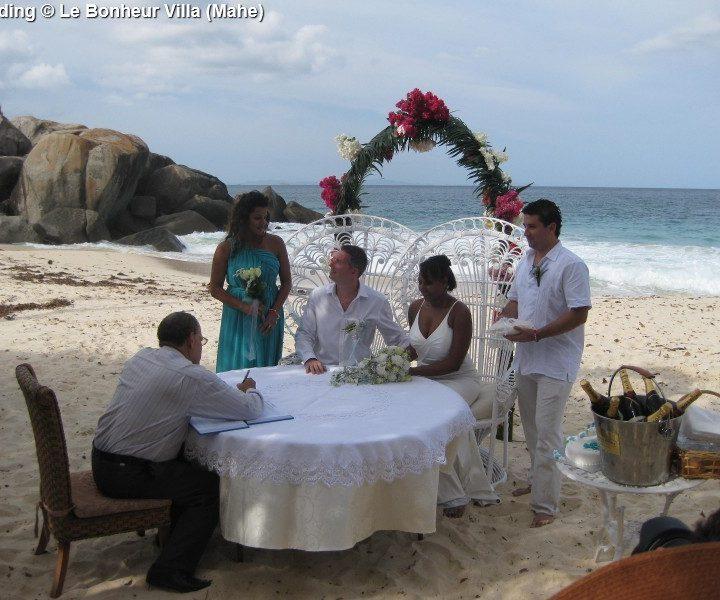 Wedding Le Bonheur Villa Mahe