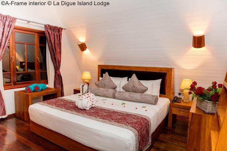 A Frame Interior © La Digue Island Lodge