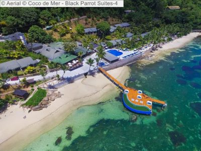 Aerial Coco de Mer Black Parrot Suites