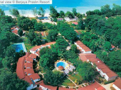 Aerial view Berjaya Praslin Resort