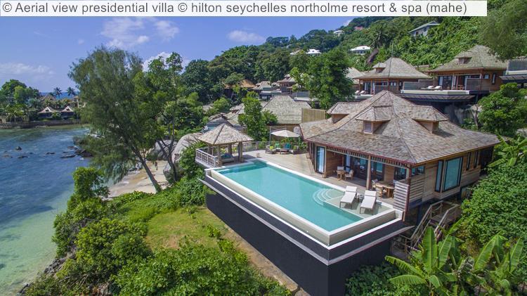 Aerial view presidential villa hilton seychelles northolme resort spa mahe