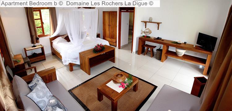 Apartment Bedroom B © Domaine Les Rochers La Digue ©