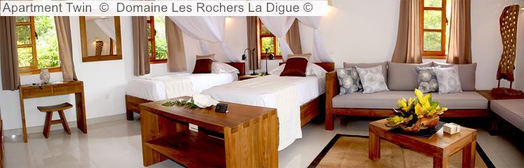 Apartment Twin © Domaine Les Rochers La Digue ©