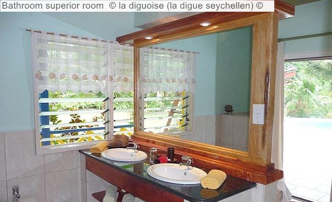 Bathroom Superior Room © La Diguoise (la Digue Seychellen) ©