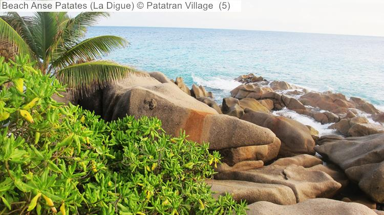 Beach Anse Patates close to Patatran Village (La Digue, Seychelles)