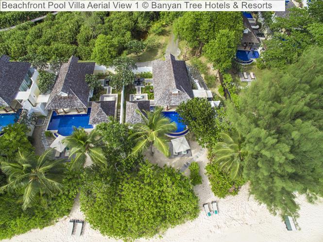Beachfront Pool Villa Aerial View Banyan Tree Hotels Resorts Seychelles