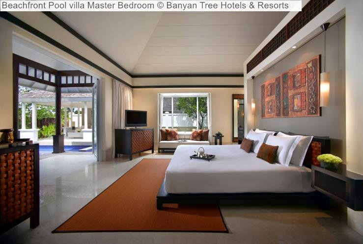 Beachfront Pool villa Master Bedroom Banyan Tree Hotels Resorts Seychelles