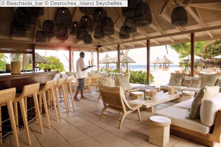 Beachside bar Desroches Island Seychelles