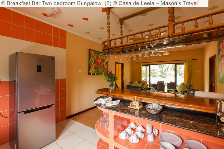 Breakfast Bar Two bedroom Bungalow Casa de Leela – Mason's Travel