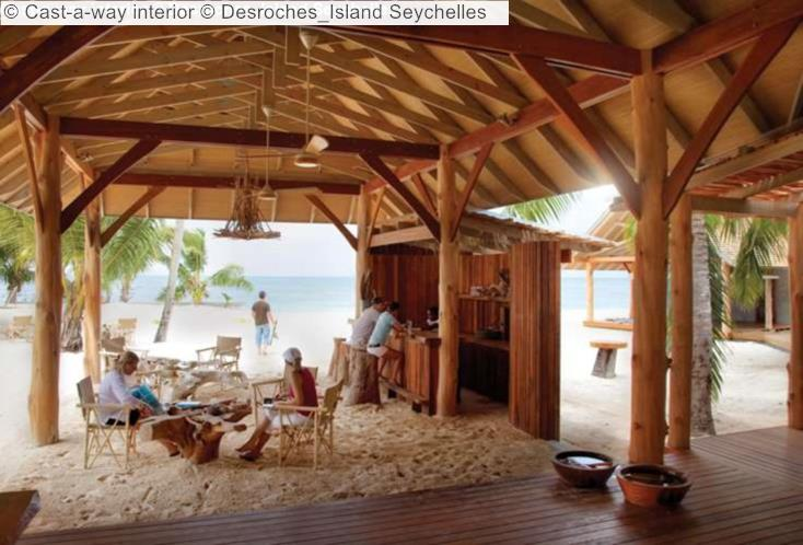 Cast a way interior Desroches Island Seychelles