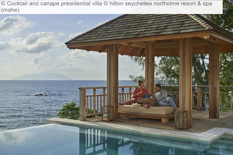 Cocktail And Canape Presidential Villa © Hilton Seychelles Northolme Resort & Spa (mahe)