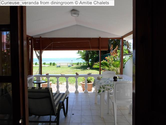 Curieuse Veranda From Diningroom © Amitie Chalets