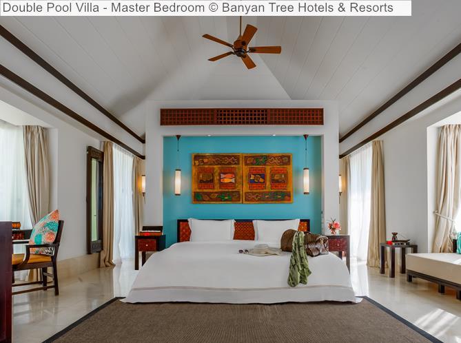 Double Pool Villa Master Bedroom Banyan Tree Hotels Resorts Seychelles
