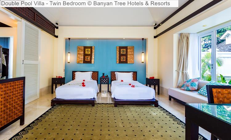 Double Pool Villa Twin Bedroom Banyan Tree Hotels Resorts Seychelles