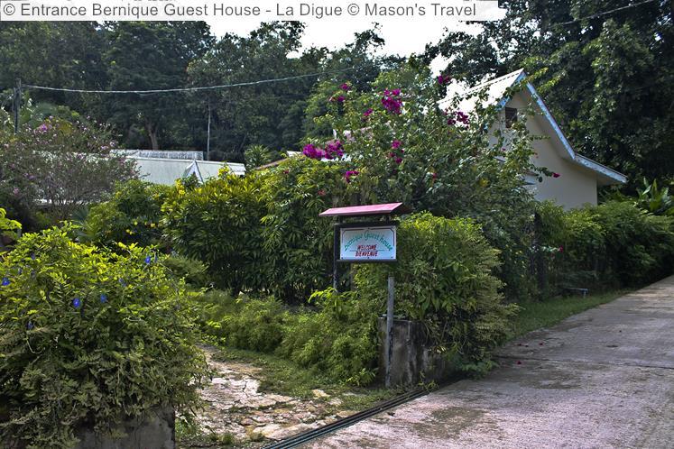 Entrance Bernique Guest House La Digue © Mason's Travel