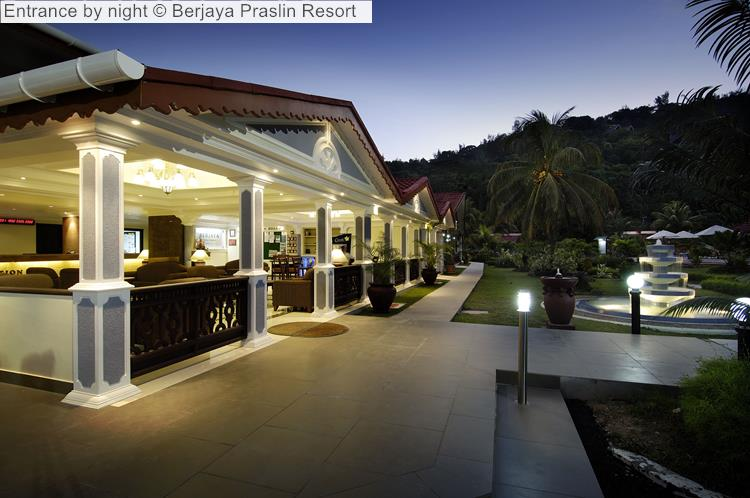 Entrance By Night © Berjaya Praslin Resort