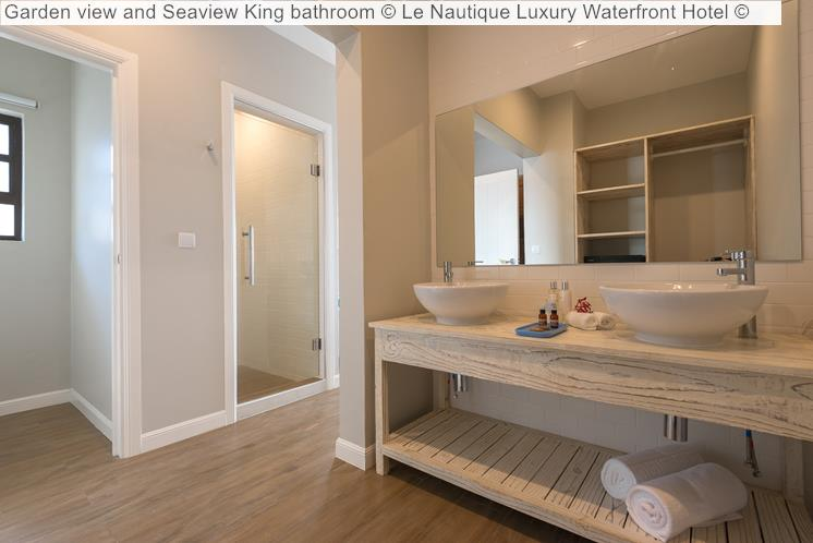 Garden View And Seaview King Bathroom © Le Nautique Luxury Waterfront Hotel ©