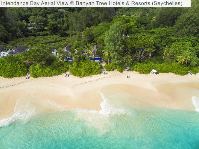 Intendance Bay Aerial View Banyan Tree Hotels Resorts Seychelles