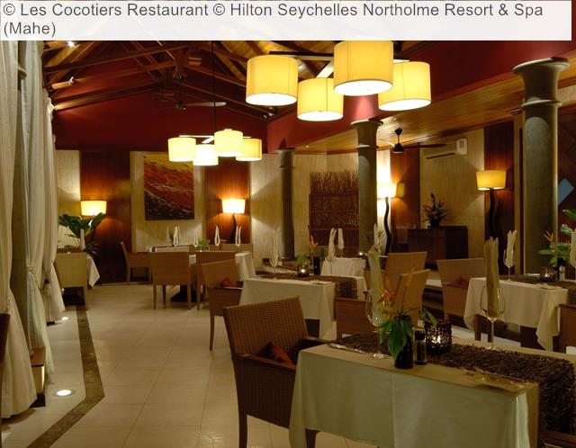 Les Cocotiers Restaurant Hilton Seychelles Northolme Resort Spa Mahe
