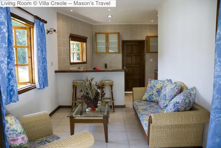 Living Room © Villa Creole Mason's Travel