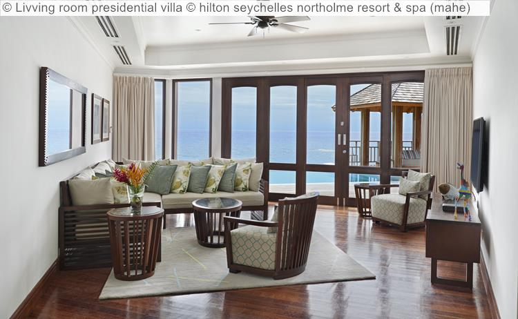 Livving room presidential villa hilton seychelles northolme resort spa mahe