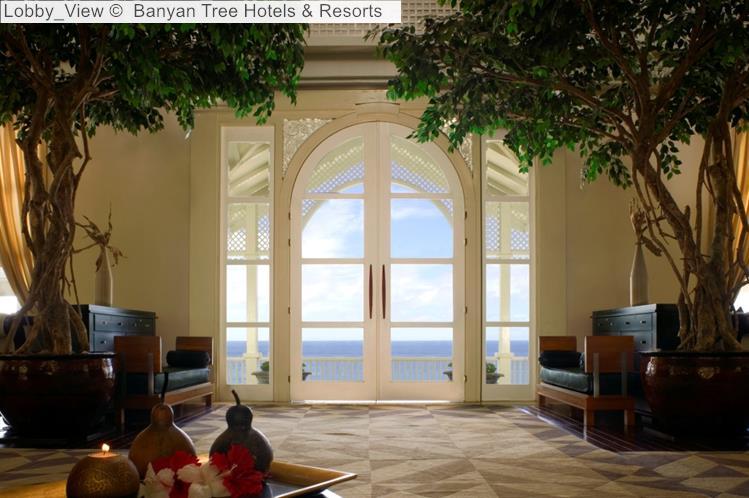 Lobby View Banyan Tree Hotels Resorts Seychelles