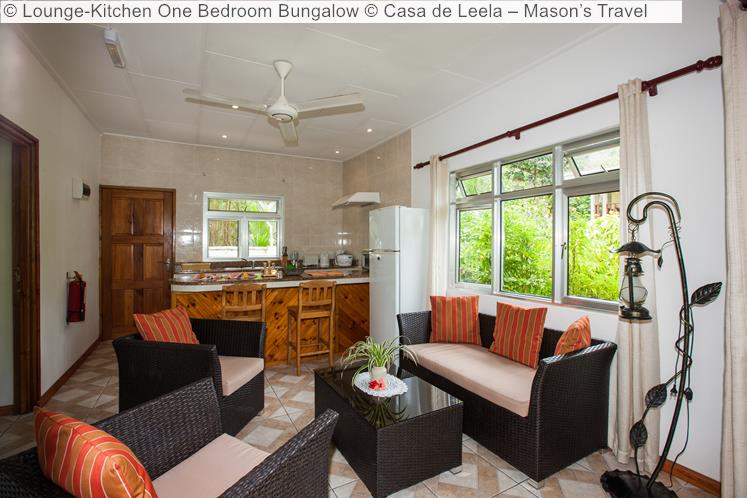 Lounge Kitchen One Bedroom Bungalow Casa de Leela – Mason's Travel