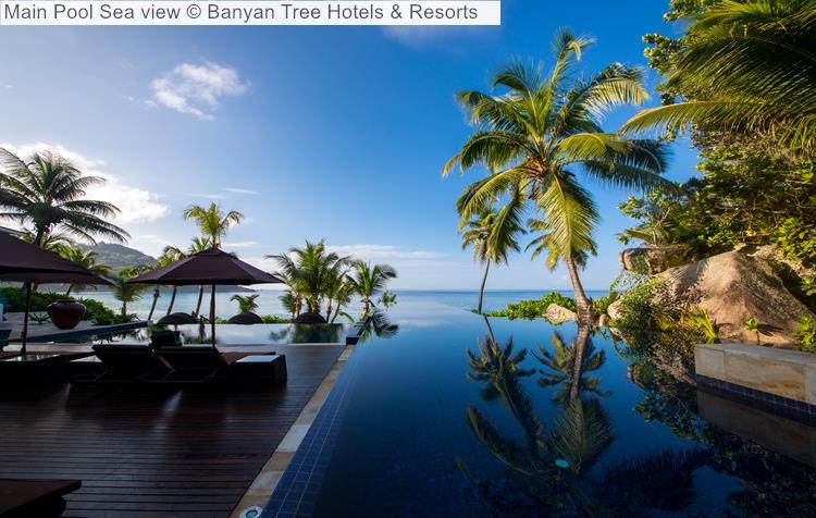 Main Pool Sea view Banyan Tree Hotels Resorts Seychelles