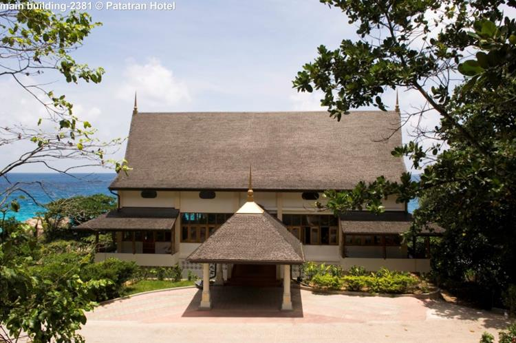 Main building of Patatran Village (La Digue, Seychelles)