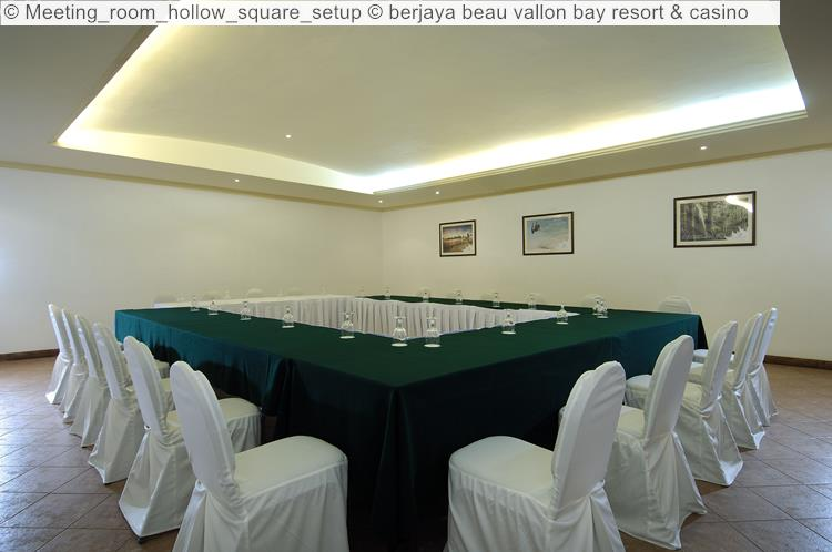 Meeting Room Hollow Square Setup © Berjaya Beau Vallon Bay Resort & Casino