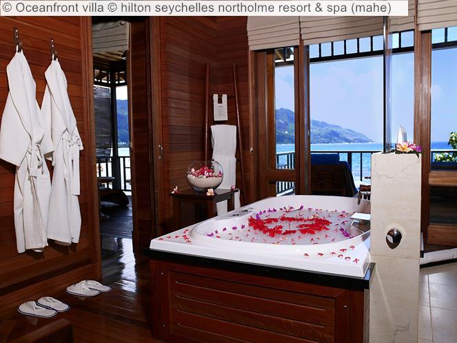 Oceanfront villa hilton seychelles northolme resort spa mahe