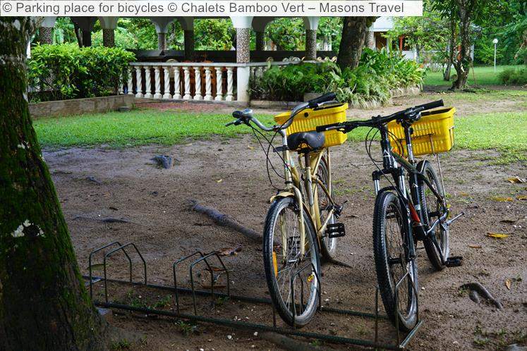 Parking Place For Bicycles © Chalets Bamboo Vert – Masons Travel