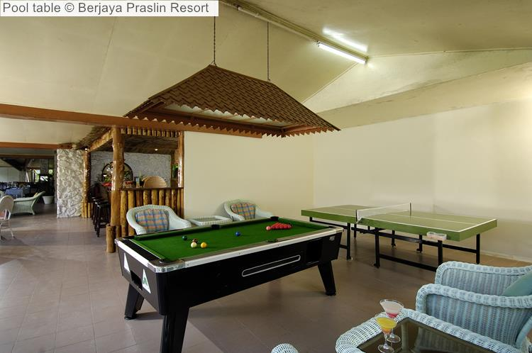 Pool Table © Berjaya Praslin Resort