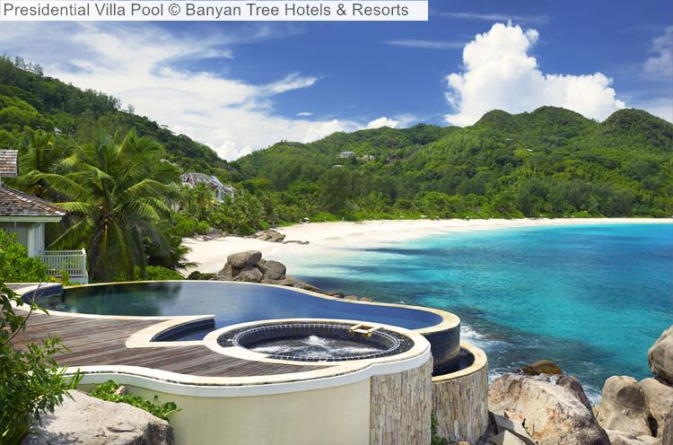 Presidential Villa Pool Banyan Tree Hotels Resorts Seychelles