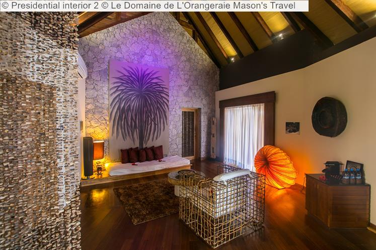 Interior Presidential Villa © Le Domaine De L'Orangeraie