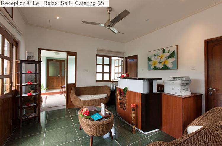 Reception of Le Relax Self Catering (La Digue)