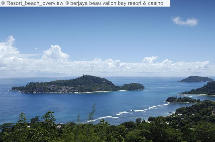 Resort Beach Overview © Berjaya Beau Vallon Bay Resort & Casino