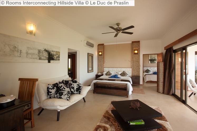 Rooms Interconnecting Hillside Villa Le Duc de Praslin