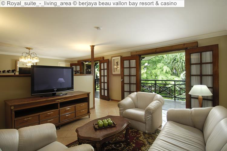Royal Suite Living Area © Berjaya Beau Vallon Bay Resort & Casino