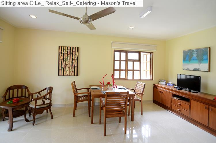 Sitting Area of Le Relax Self Catering (La Digue)