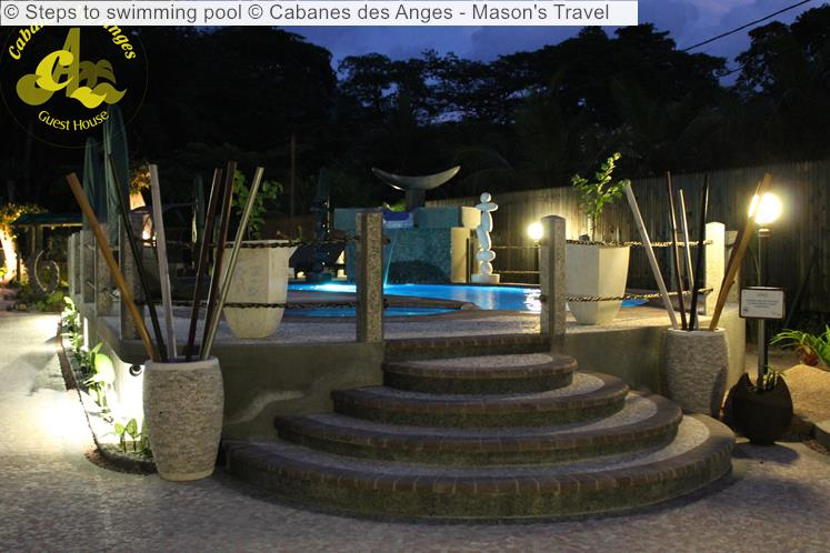 Steps To Swimming Pool © Cabanes Des Anges Mason's Travel