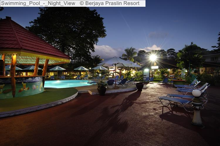 Swimming Pool Night View © Berjaya Praslin Resort