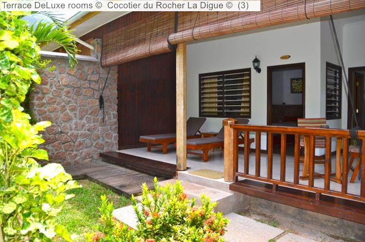 Terrace DeLuxe Rooms © Cocotier Du Rocher La Digue ©