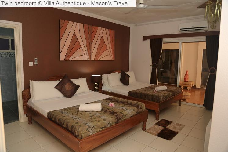 Twin Bedroom © Villa Authentique Mason's Travel