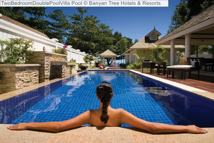 TwoBedroomDoublePoolVilla Pool Banyan Tree Hotels Resorts Seychelles